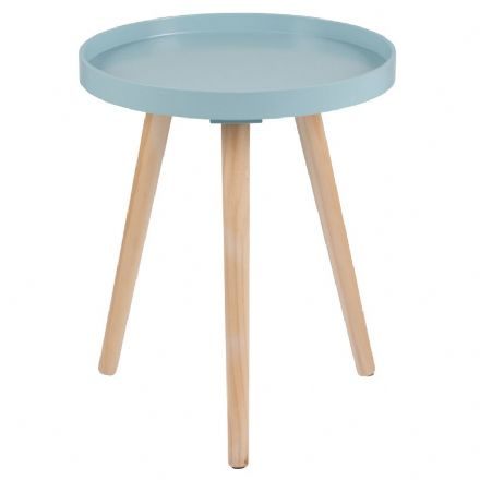 Aqua Painted Side Table